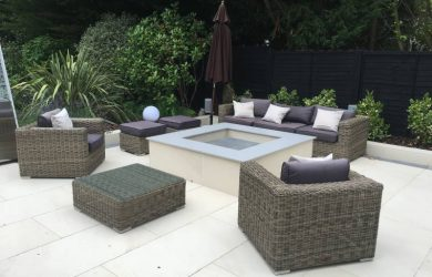 Artificial Grass Seating Fire and Bar