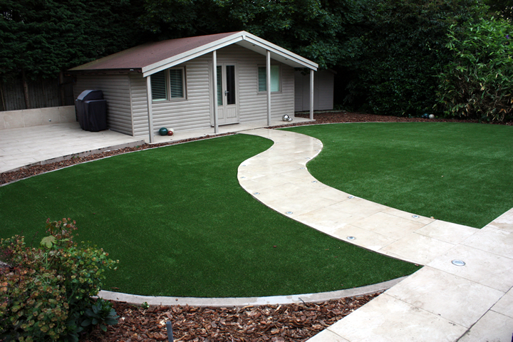 Artificial grass maidstone artificial grass lawns and for Garden decking maidstone