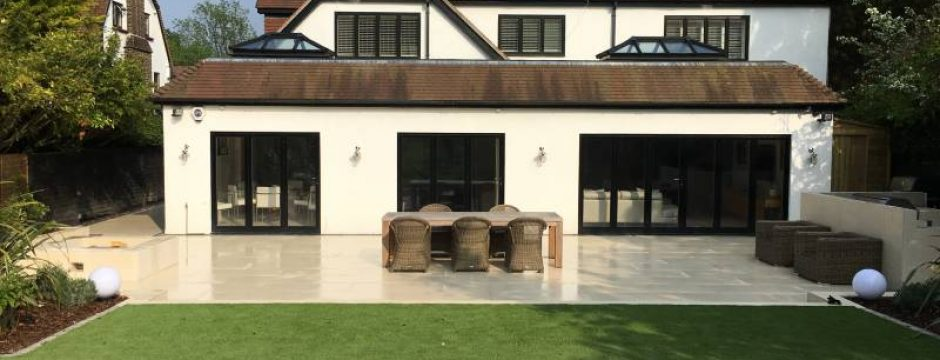 Porcelain Patio and Grass